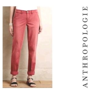 Anthro Pilcro and the Letterpress Pink Jeans size